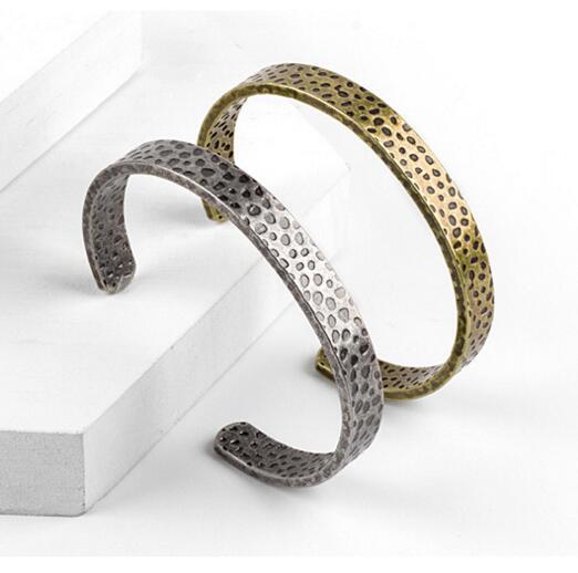 Good Quality Retro Wide Stainless Steel Bracelet Men Vintage Punk Men Jewelry Cuff Open Bracelets & Bangles pulseira masculina