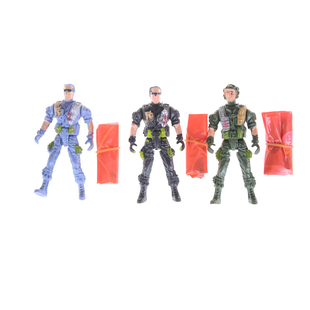 US $0 68 17% OFF|1 pcs Military figures Model Kits kid's Toy Model 9cm  Paratroopers Parachute soldiers Small Miniatures-in Model Building Kits  from