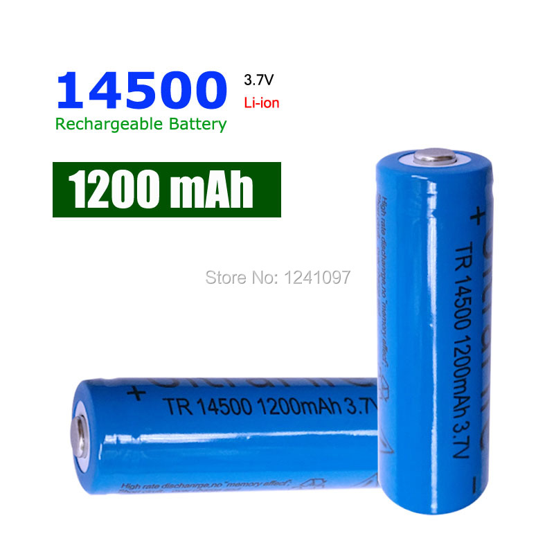 10pcs 14500 1200mAh 3.7V Li-lon Rechargeable Battery High Quality AA rechargeable battery for Flashlight
