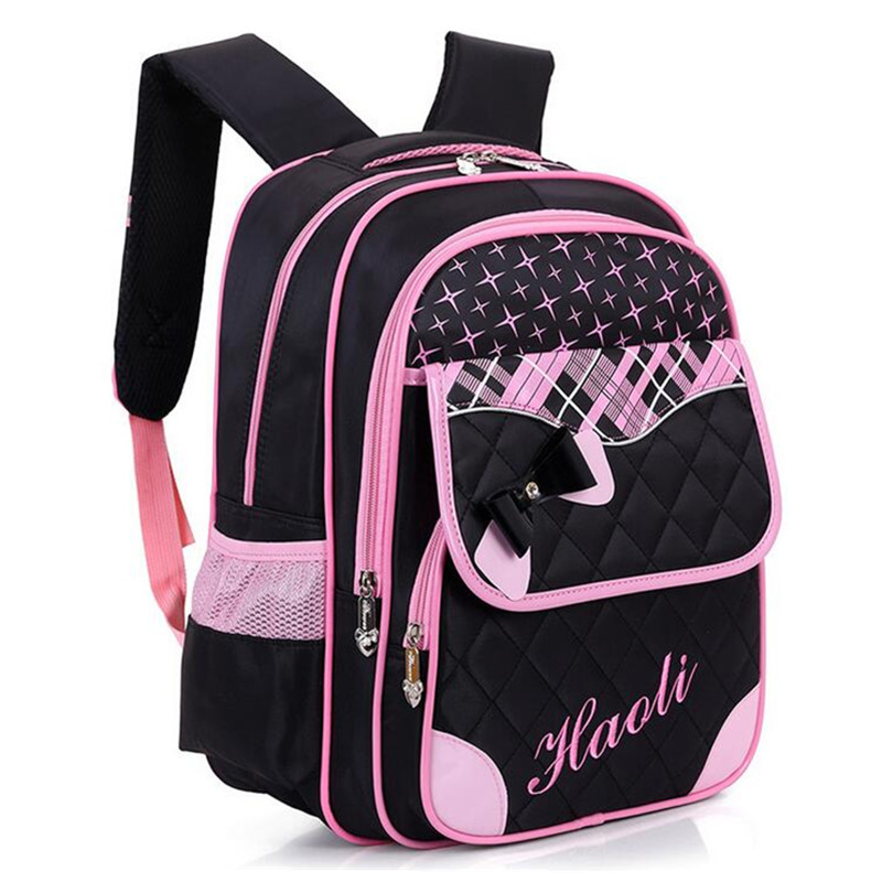 Kids School Bags with Bowknot Princess Style Children Girls Boys School  Backpack Plaid Pattern Schoolbag for 4d580dcd20