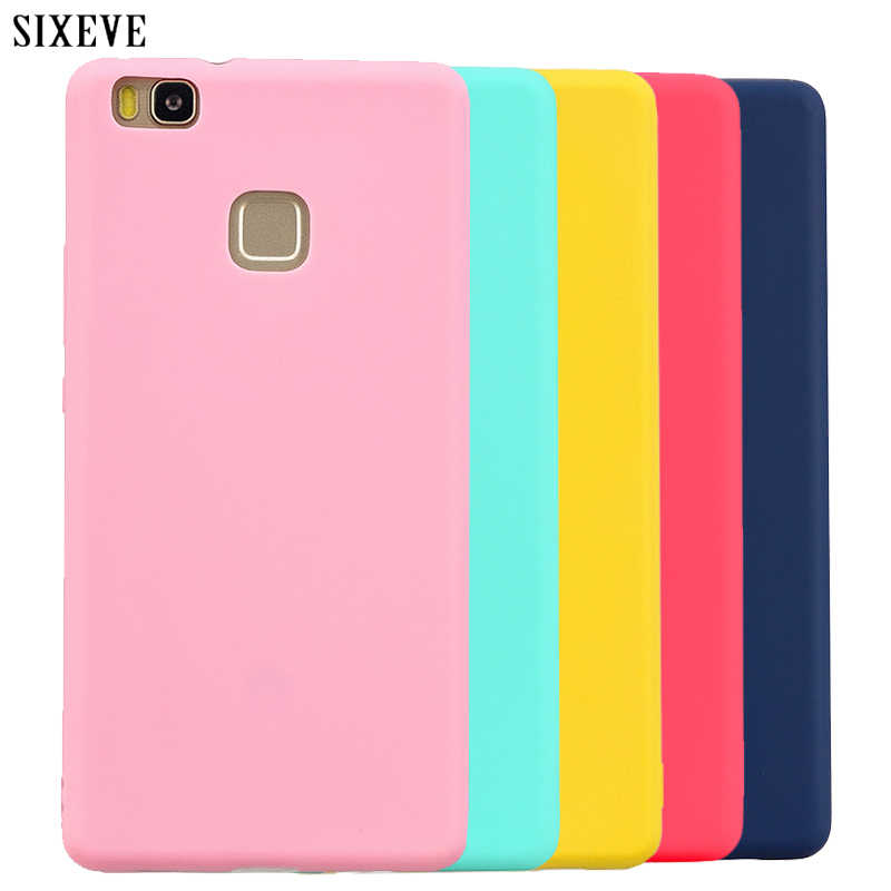 SIXEVE Candy Macaron Color Case for Huawei P8 P9 P10 P20 Lite 2017 P20 Pro honor 8 9 Mate 10 Y9 2018 P Smart Soft Silicon Cover