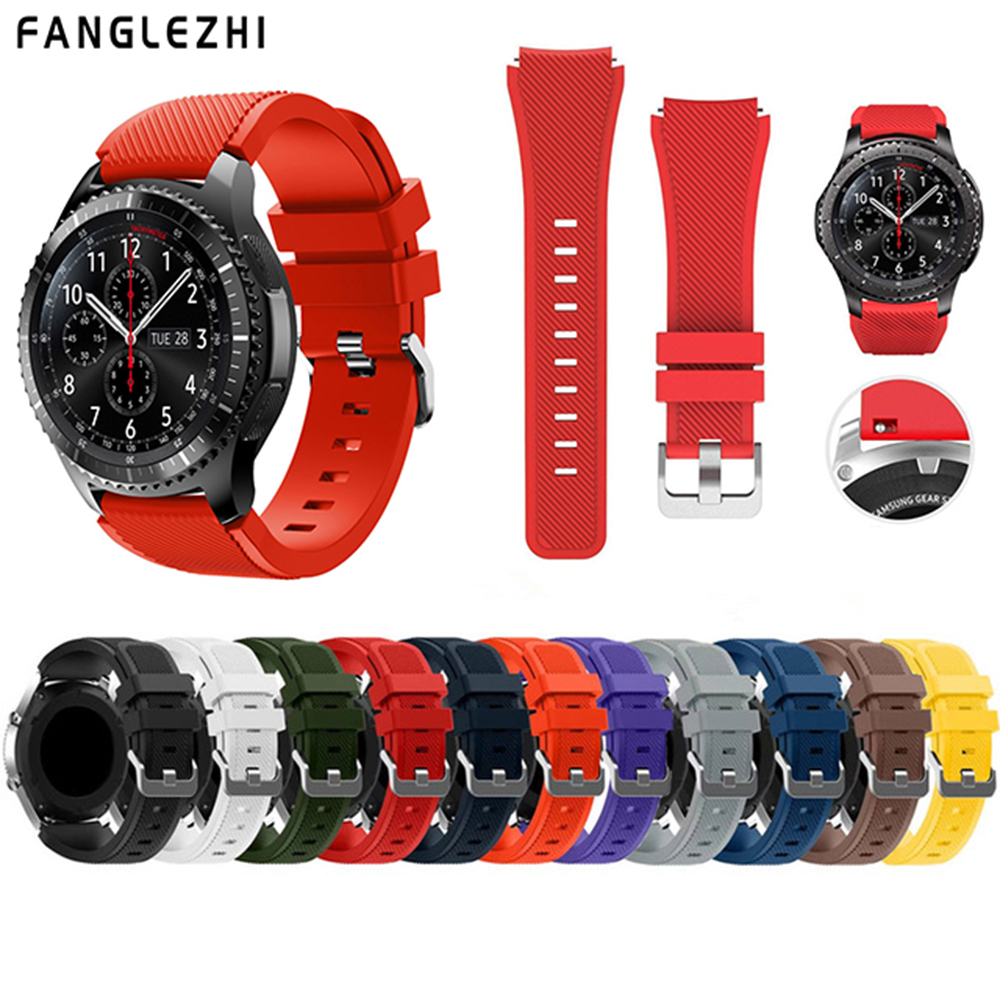 Gear S3 Frontier Strap for Samsung Galaxy Watch 46mm 22mm Watch Band Correa Gear S3 Classic Straps Gear S 3 Silicone Bracelet   Gear S3 Frontier Strap for Samsung Galaxy Watch 46mm 22mm Watch Band Correa Gear S3 Classic Straps Gear S 3 Silicone Bracelet