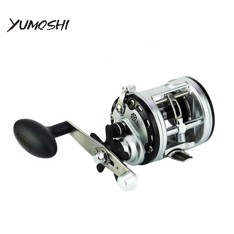 YUMOSHI 12 1BB Drum Fishing Reel Saltwater Reel Baitkastking Boat Trolling Reel