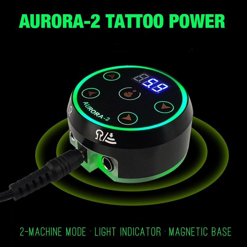 Aurora 2 Touch Control LED Tattoo Power Supply for Tattoo Machine