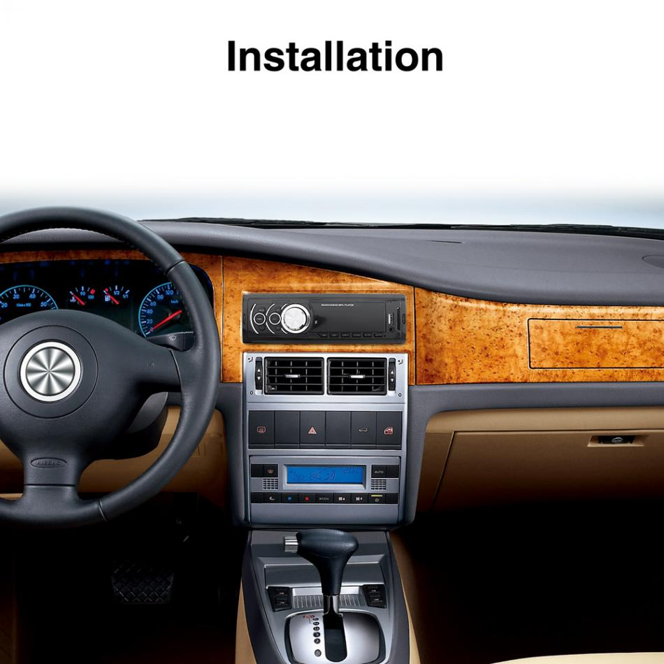 1 DIN LED Display Car In Dash Stereo Audio FM Aux Input Receiver SD USB MP3 WMA Radio Player in Car Radios from Automobiles Motorcycles