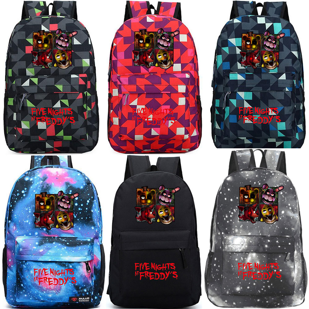 Christmas Gift Games Five Nights at Freddys Boy Girl School bag Women Bagpack Teenagers Schoolbags Canvas Men Student BackpacksChristmas Gift Games Five Nights at Freddys Boy Girl School bag Women Bagpack Teenagers Schoolbags Canvas Men Student Backpacks