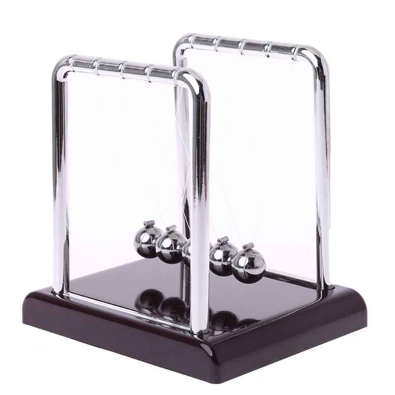 Steel Newton's Cradle Balance Ball Physics Science Pendulum Desk Fun Toy Gift Experiment
