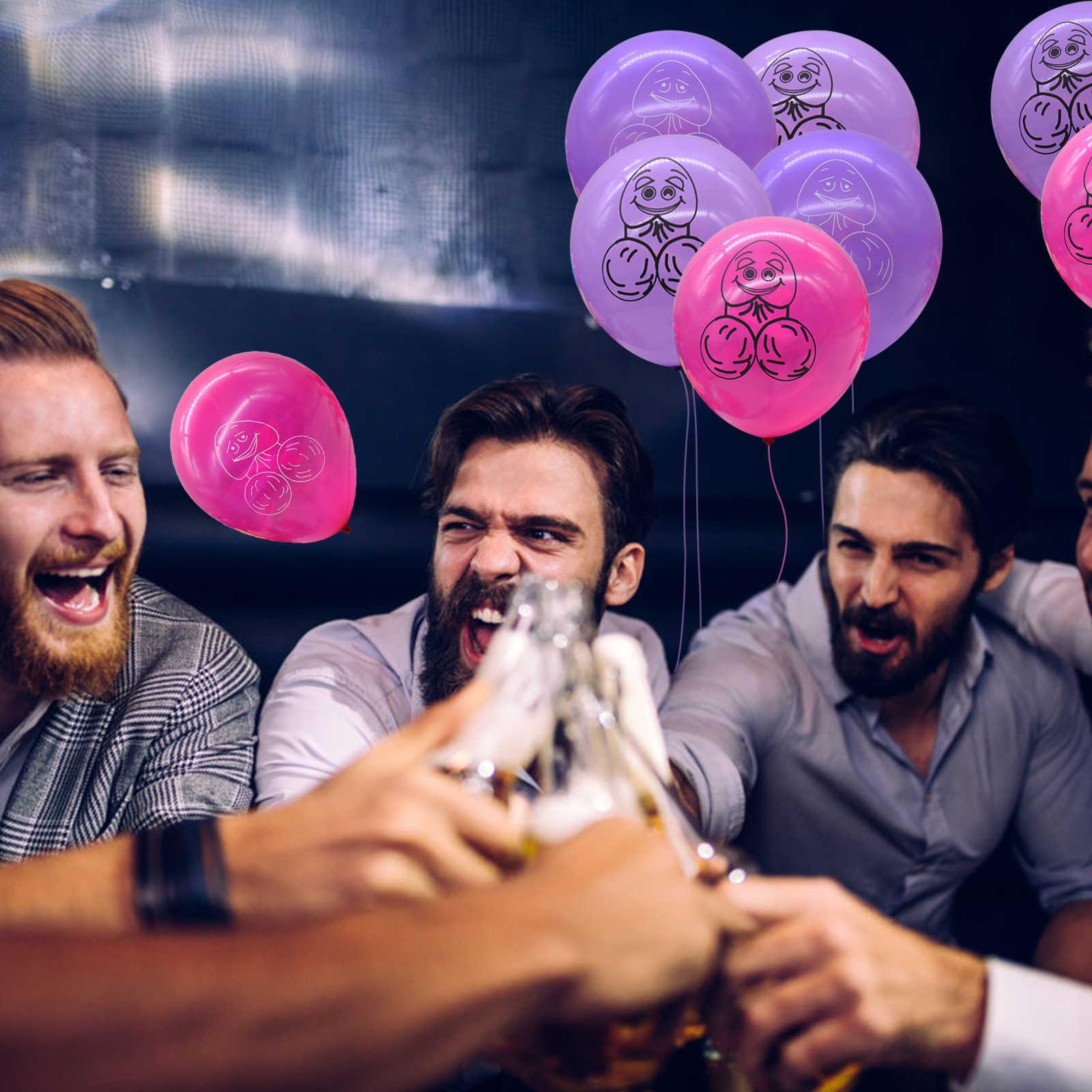 c1d48eaa2492 Bridal shower pink penis shape rude abusive balloon hen bachelorette party  decoration korean style thick jpg