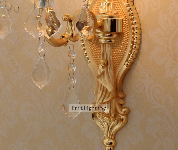Contemporary Wall Light Crystal Wall Sconces Bedroom Vanity Light ...