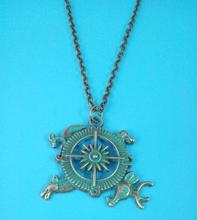 2016 New Jewelry Ice And Fire Necklace Game Of Thrones Necklace Targaryen Dragon Compass Necklace Antique Bronze Charm 10pcs
