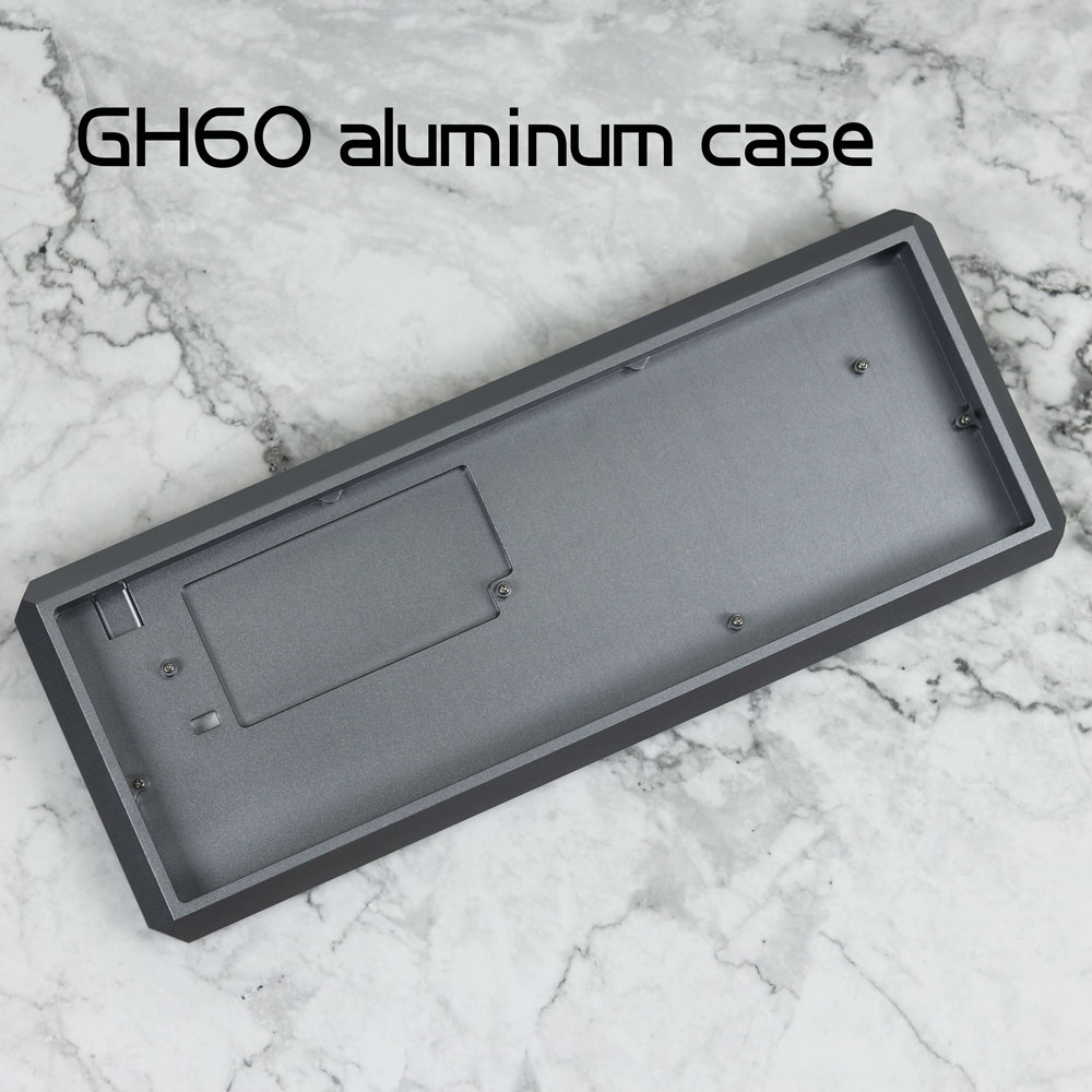 Customized 5 angle Anodized Aluminium case for 60 keyboard gh60 case shell fit gh60 poker dz60