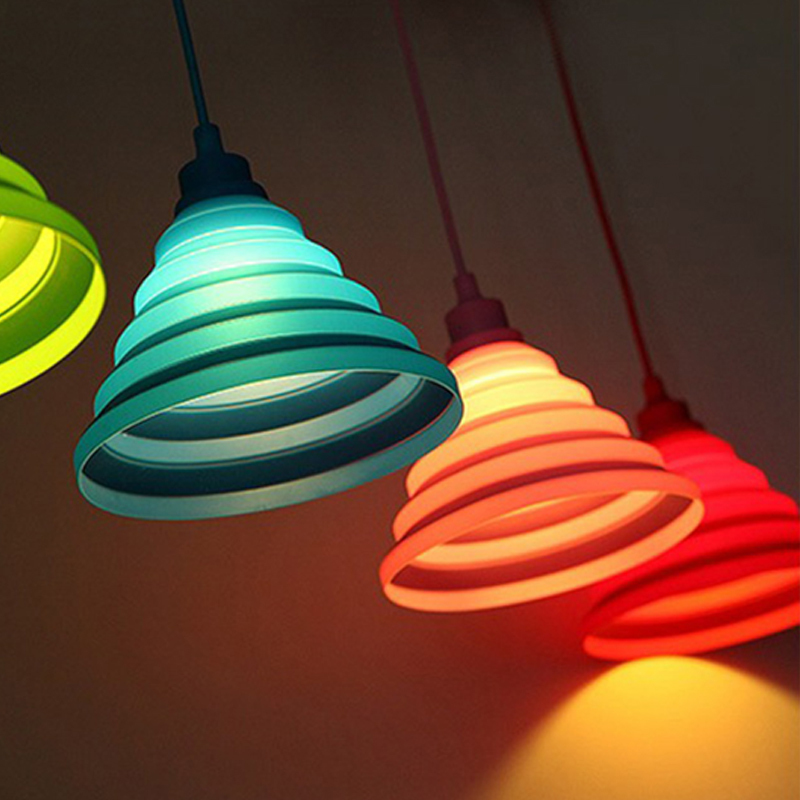 OYGROUP Led Ceiling Lights Modern Simple Colorful Silicone ceiling Lights home bed room living room Decoration LED E27 Bulb