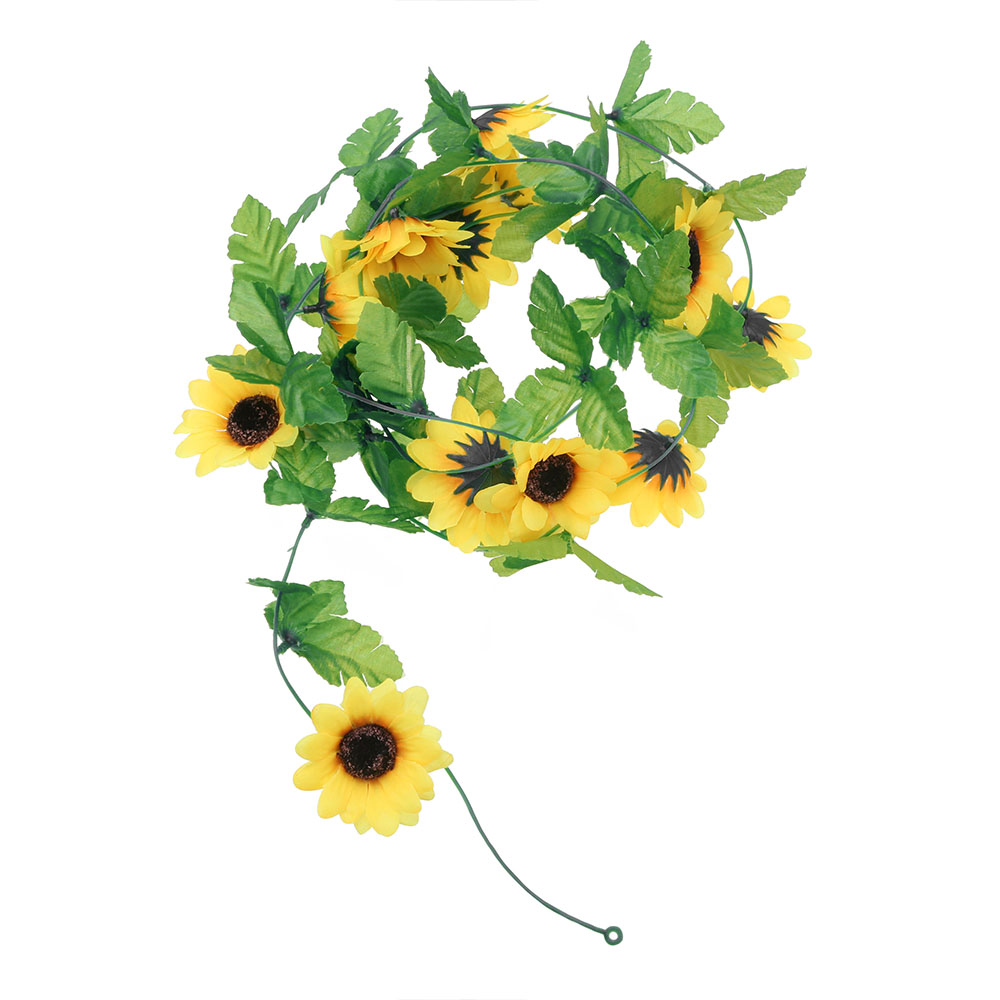 250cm Artificial Sunflower Garland Silk Fake Flowers Ivy Vines Sunflower Vine for Wedding Party Home Decorations
