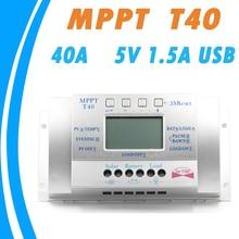 40A Kontrolery Ładowania Słonecznego 12 V 24 V Auto z 5 V 1.5A USB wyjście Światła Obciążenia i Sterowaniem Czasowym 40A Regulator LCD Panel Słoneczny