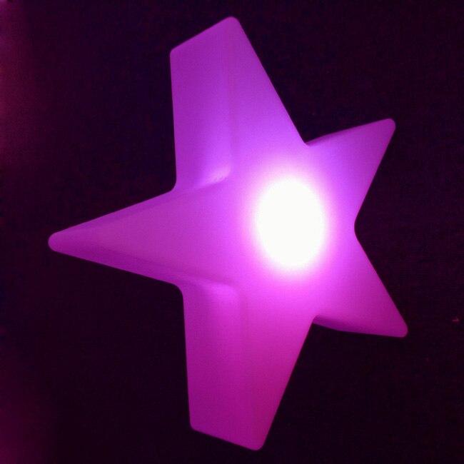 L40 * W40 * H12cm Cinque Star Luci notturne 16 cambiamento Di colore Di scintillio Star ricaricabile Impermeabile Decor Lampade Trasporto libero 5 pz/lotto - 6