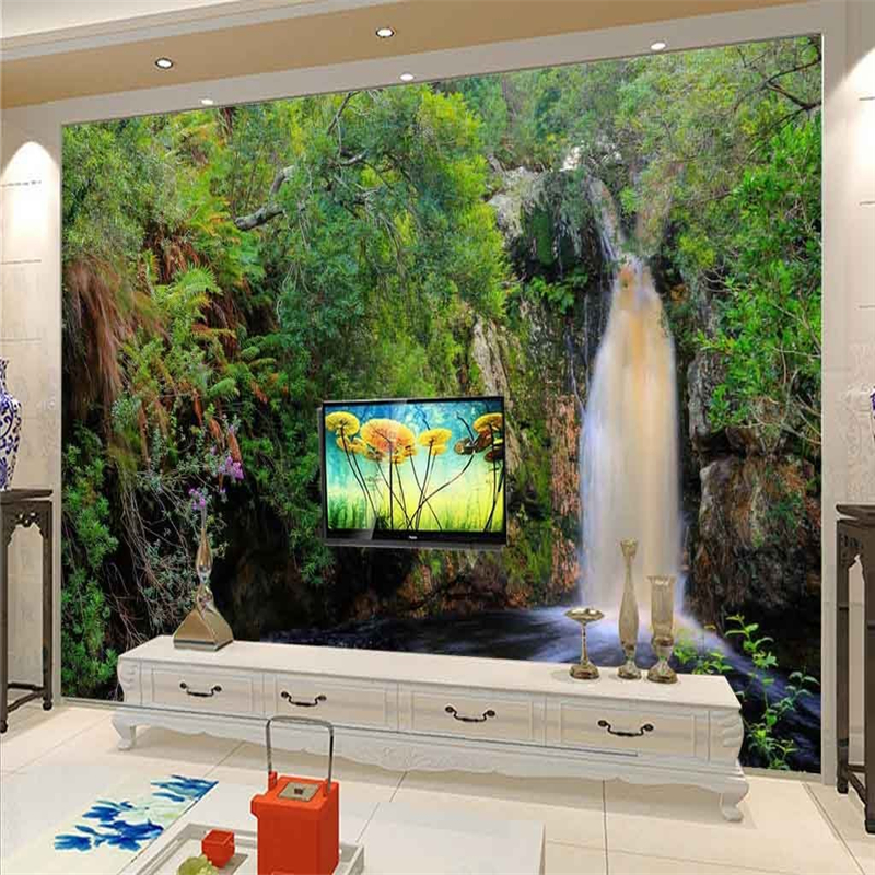 wallpapers landscaping landscape paintings bedroom living water background custom wall tv