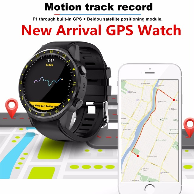 F1 Sport Smart Watch with GPS Camera Support Stopwatch Bluetooth Smartwatch  SIM Card Wristwatch for Android IOS Phone-in Smart Watches from Consumer