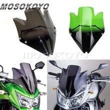 Motorcycle Clear Green Orange Smoke Windshield Windscreen For Kawasaki Z750 Z750R 2007 2012 Black Wind