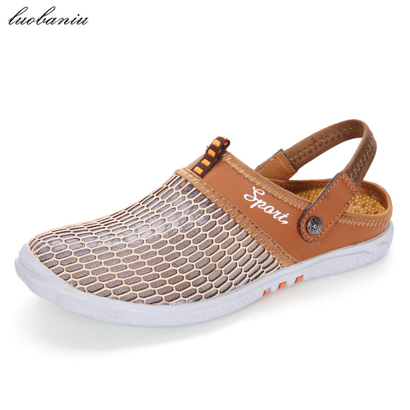 2017 Mode Männer Sandalen Mesh Atmungsaktive Sommer Sandalen Männer Hohe Qualität