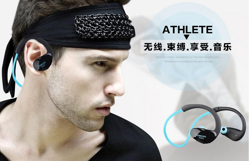Dacom Athlete NFC Cordless Ear Hook Sport Bluetooth 4 1 earphones Sweatproof Mini Wireless Hifi Bass