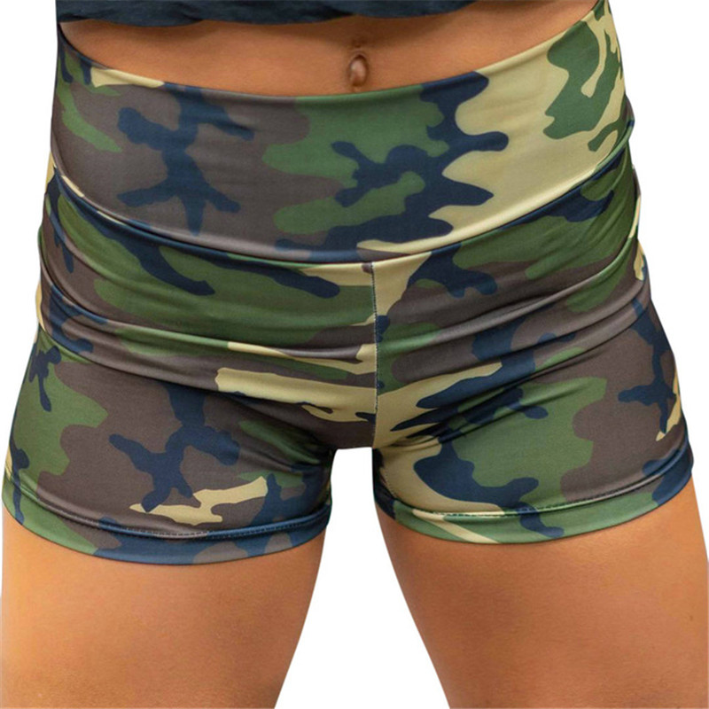 Dorvivon Camouflage Print Shorts Women Summer Fashion Sporting Short Pants Female Trousers Womens Skinny Short Feminino