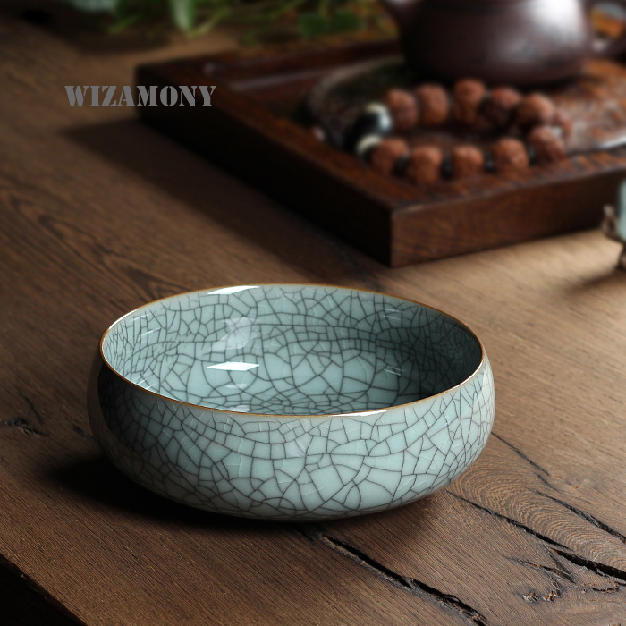Four Colors Chinese Large Capacity 620ml Eco Friendly Crackle Glaze Tea Wash Chinese Longquan Celadon Teacup teapot Low Price