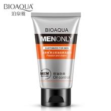 BIOAQUA Men Cleanser Deep Cleansing Skin Care Facial Cleanser Moisturizing Whitening Acne Blackhead Exfoliating Cleanser
