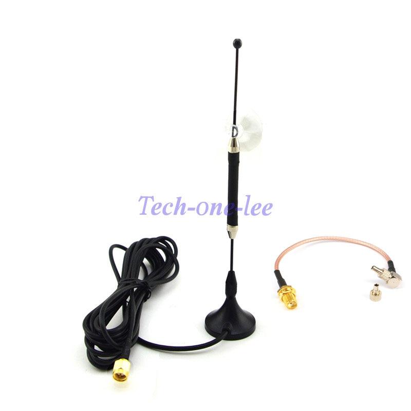 10dBi SMA Stecker 4G 696-960 MHz/1710-2690 MHz Antenne RG174 3 Mt + Sma-buchse auf TS9 und CRC9 zwei möglichkeiten RG316 Koaxialkabel