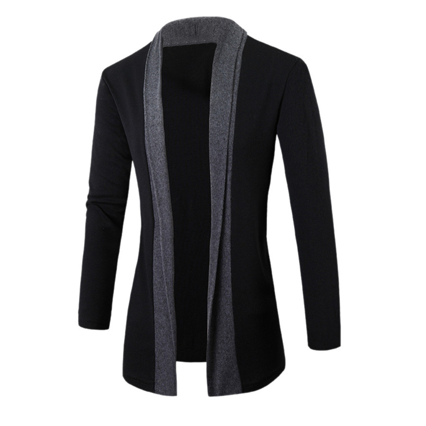 Jacket Slim Cardigan Casual Coat Long-Sleeve Plus-Size Stylish Men Fashion New Men's