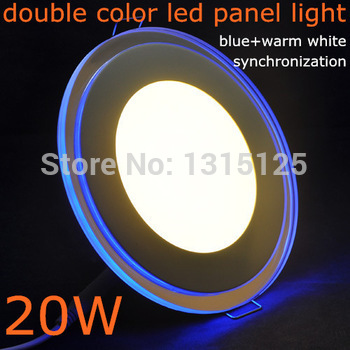 20W Dəyirmi Akril LED Döşənmiş tavan paneli Yüngül / Panel İşıq lampası İsti WhiteAC85-265V Pulsuz Göndərmə