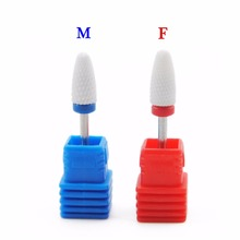1Pc Optional M F Sizes Ceramic Nail Drill Bit for Electric Manicure Drills Machine Dead Skin Nail File Polish Tool Accessories