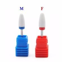 1Pc Optional M F Sizes Ceramic Nail Drill Bit for Electric Manicure Drills Machine Dead Skin Nail File Polish Tool Accessories