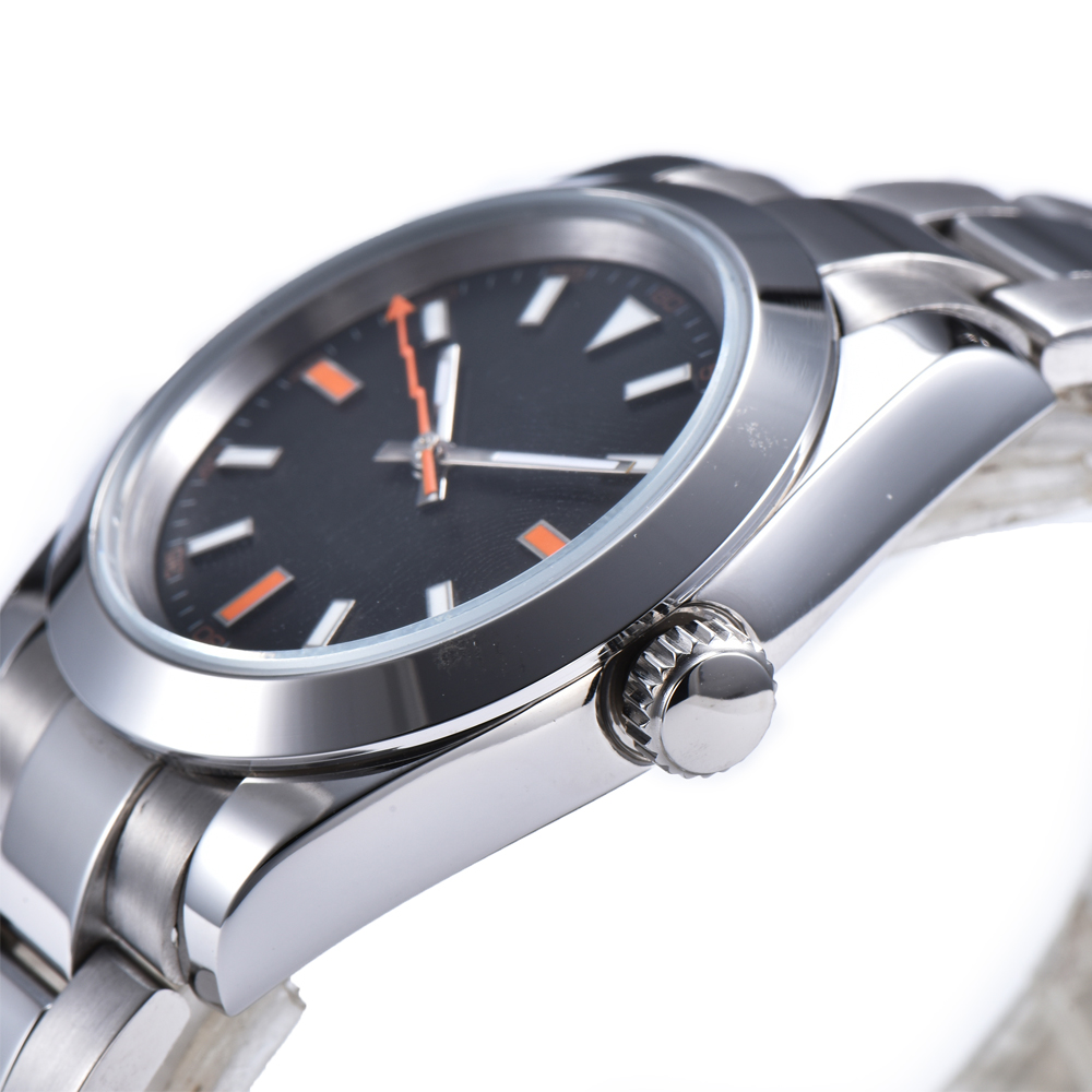 New automatic Mens Watch free shipping fashion Luminous hands 39mm Solid 316L Steel Case and bracelet R33 in Mechanical Watches from Watches