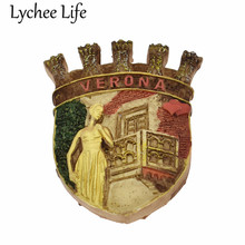 Italy Verona Scenic Refrigerator Magnetic Sticker Juliet Resin Fridge Magnet Souvenir Gift Modern Home Kitchen Decor