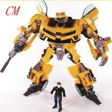 Аниме 18 СМ Трансформация Робот Сэм Фигурки Игрушки желтый Автомобиль Сэм Роботы Классические juguetes Brinquedos детские игрушки высокого качества