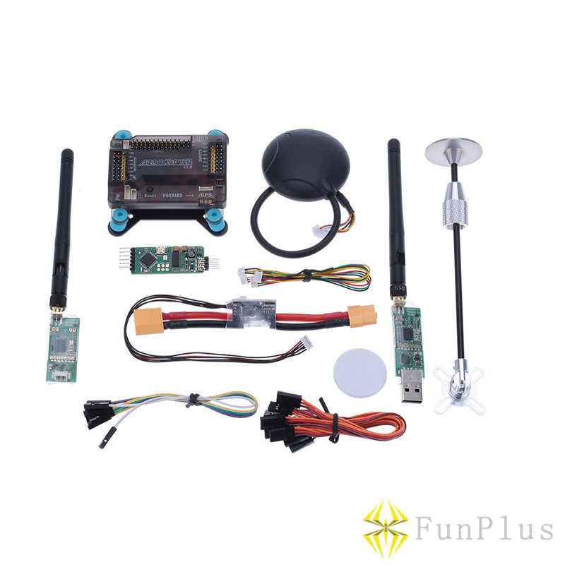 APM 2.8 ArduPilot Flight Controller Neo-6M GPS Antenna Foldable Stand Amount Power Module 915Mhz Radio Telemetry Transmission RC 3dr power module apm2 2 5 apm flight controller ardupilot mega apm2 6 f