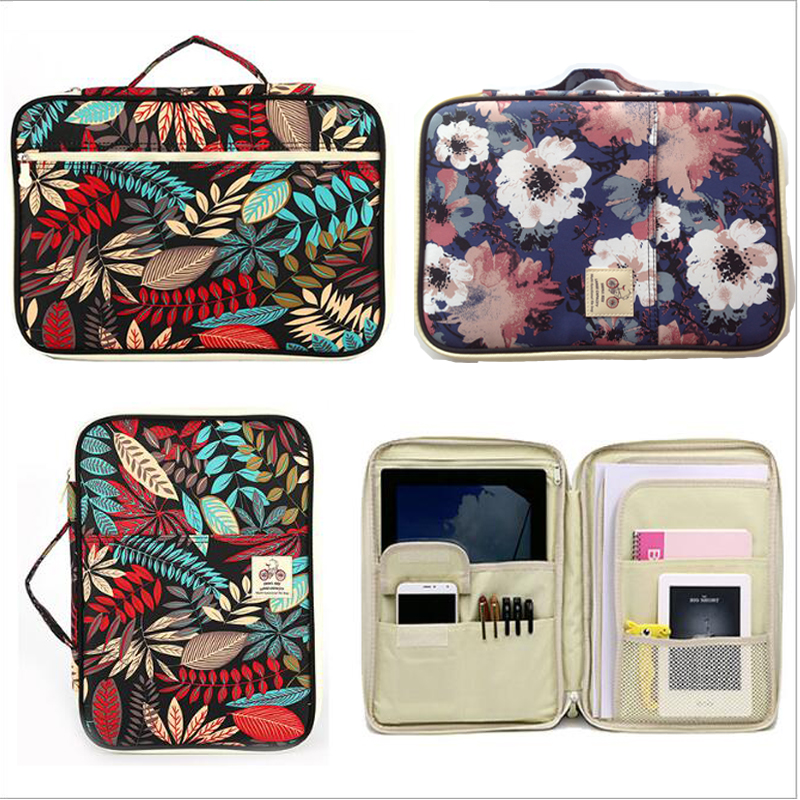 Multi Function Zipper Folder2019 Marvel Leaf Flower Cute Type Large Capacity New Waterproof Briefcase Outdoor  School Supplies