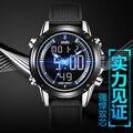 Водонепроницаемый Цифровые Часы Спорт Военная мужская Повседневная Кварцевые Двойной Дисплей Наручные Часы Тревоги Часы Reloj Hombre Электронные Часы