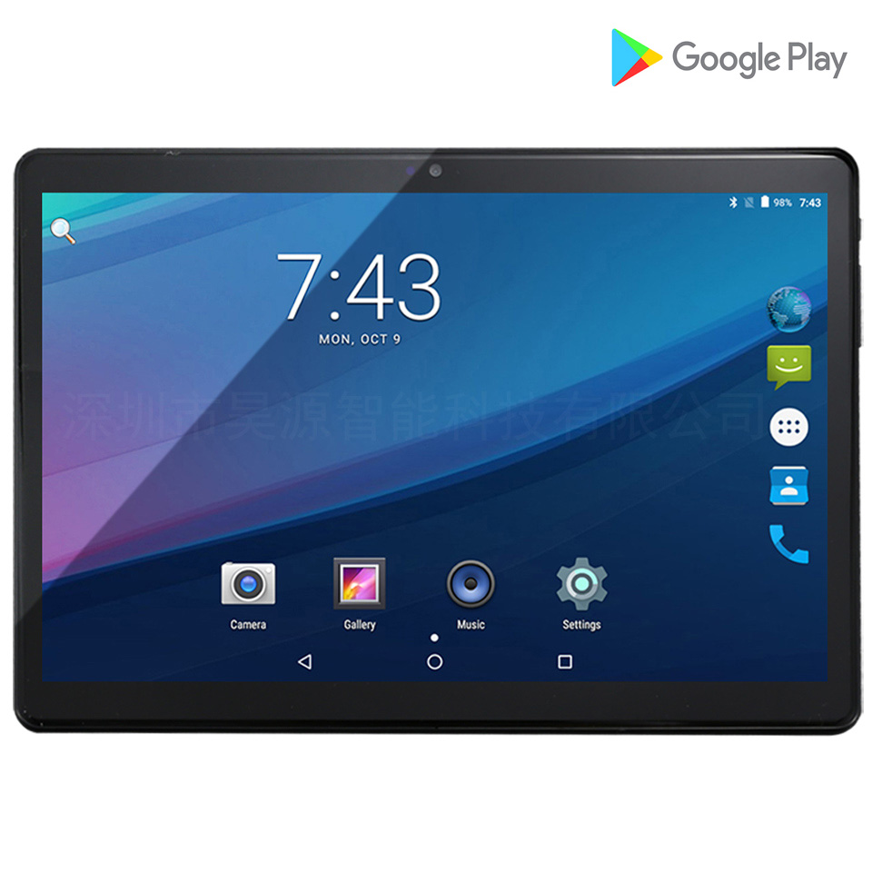 2019 google play Android 7.0 4G téléphone appel tablet 10 pouces dual sim emplacement pour cartes 1920*1200 IPS tactile android comprimés 10.1 10 9