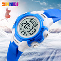 SKMEI Children Digital Wristwatches Boy Girl Sports Clock 50M Waterproof Alarm LED Display Chronograph Fashion Kids Watches