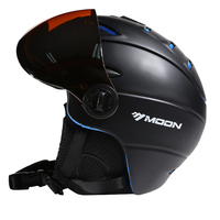 MOON Ski Helmet CE Certification Goggles Skiing Helmet Snowboard Skateboard Helmet With Ski Glasses Goggles 52