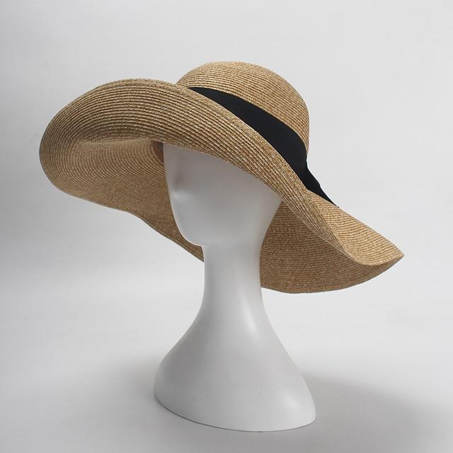 a855929692 3pcs Designer Pocketable Wide Brim Straw Hats NEW Women Summer Big Beach  Straw Hat Ladies Foldable Nature Sun Caps Wholesale