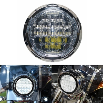 Motorcycle LED Headlight Spot Flood Light for Road King Custom Classic