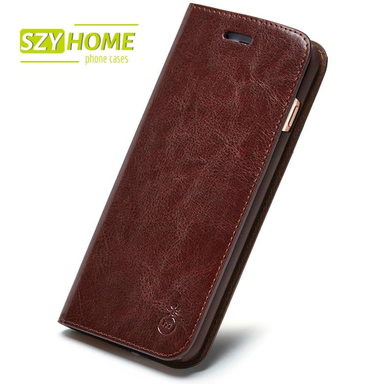 imágenes para SZYHOME Cajas Del Teléfono Para Samsung Galaxy S4 S5 S6 S7 S8 BORDE Más Tirón de la Carpeta de Cuero de lujo Nota 2 3 4 5 7 Cubierta de La Caja Capa Coque