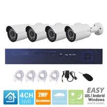 4CH PoE 1080P NVR CCTV система 2.0MP уличная IP камера HD 1080P NVR CCTV комплект рекордер Видео камера безопасности Система наблюдения