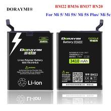 DORAYMI BM22 BM36 BM37 BN20 Battery for Xiaomi Mi 5 5S Plus 5C Mi5 Mi5S Mi5C Phone Replacement Batteries Bateria + Tools
