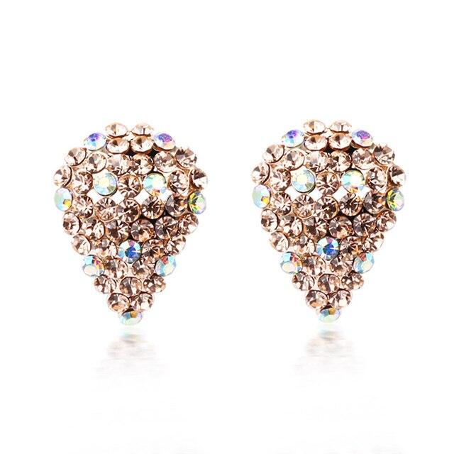 Free Shipping Classic Full Rhinestone Drop Earring Ear Clip  Cushiest Accessories Min Order $20