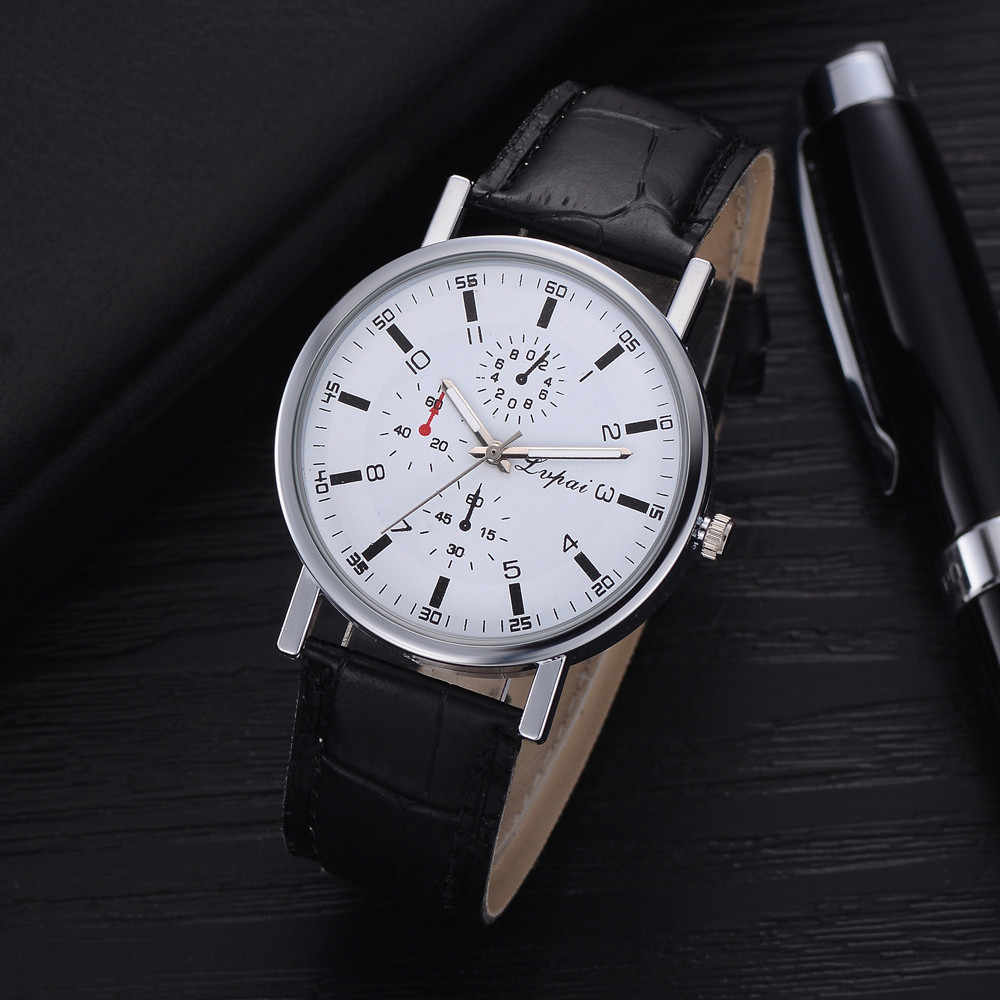 2019 reloj hombre Lvpai אופנה מקרית שעונים גברים קוורץ רצועת עור שעון אנלוגי שעוני יד עסקים saat relogio masculino