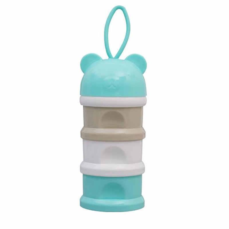 Pin Warna Susu Bubuk Box Independen Berlapis Susu Bubuk Grid Nyaman Tiga Layer Susu Bubuk Box Bulat Kepala Susu bedak Kotak