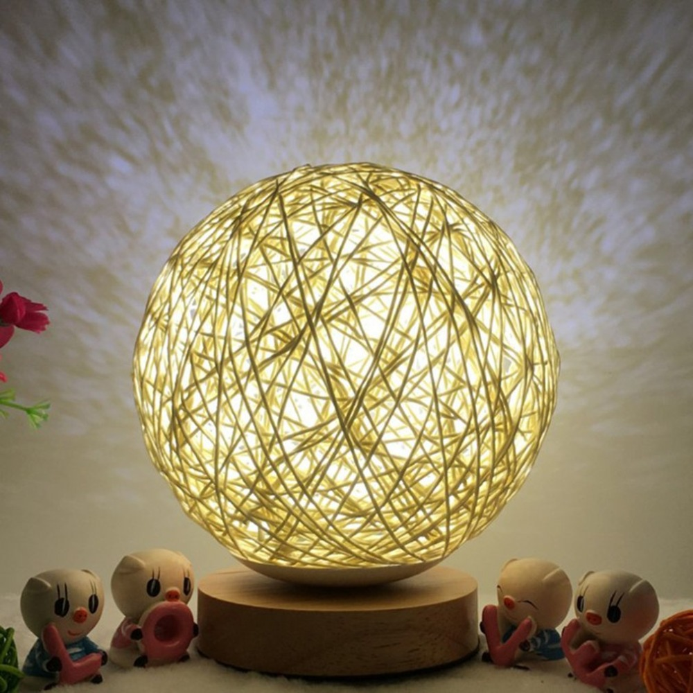LED Moon Light 3D Print Magical Projection Night Light Lamp Desk Ball Light Touch Switch Home Decor Creative Gift